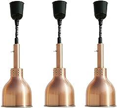TOPNIU Lampe de chaleur domestique Lampe de réchauffement alimentaire commercial portable Food Warmer, en acier inoxydable...