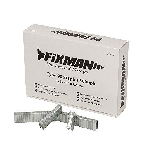 Fixman 471953 5 000 agrafes type 90 5,85 x 13 x 1,25 mm