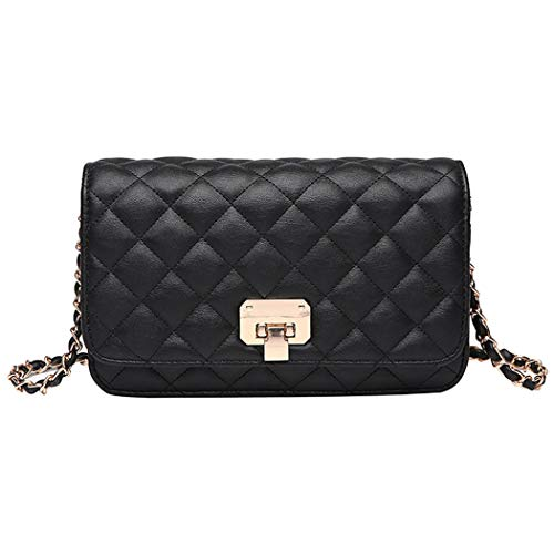 """Material: Superior PU leather, high quality hardware Size: 7.87"""" L x 4.72""""H x 1.97""""W (as the picture shows) Easy Switch: Lock closure, easy for opening and closing while adding the security of the stuff inside Stylish & Classic Design: Quilting desig..."""