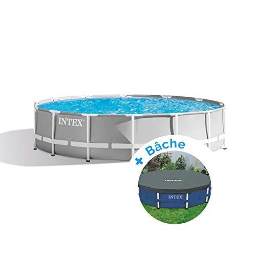 Pack piscina tubular Intex Prism Frame 3,66x 1,22m) + lona