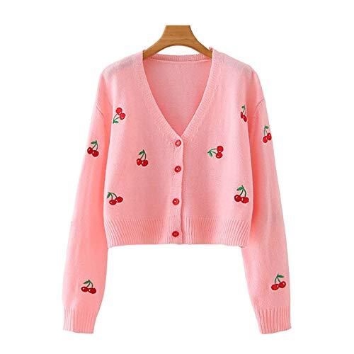 Moda Sudaderas Jersey Sweater Las Mujeres De Moda Bordado Recortada Suéter Cárdigan De Punto Vintage De Manga Larga Prendas De Vestir Exteriores Femeninas Tops Elegantes L 2