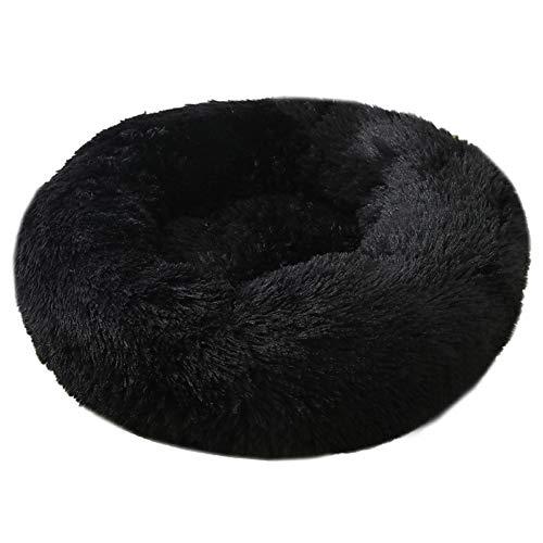 Pluche donut hondenmand, in de machine wasbaar kattenkussen, ronde warme, zachte kennel, zachte hondenkat voor honden
