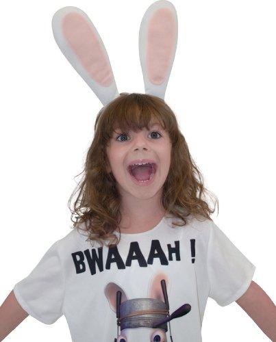 Rubie's-déguisement officiel - Lapins Crétins- Serre-tête oreilles lapin- AC5608
