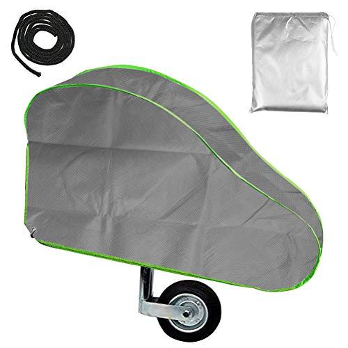 QLOUNI Deichselschutz, Deichselhaube mit Reflexstreifen, Deichselschutzhaube, Deichselabdeckung für Wohnwagen und Anhängertypen mit Kastenschloss