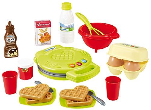 Ecoiffier – Waffeleisen für Kinder – 22-teiliges Backset mit Spiellebensmitteln, ideales Zubehör für Spielküchen, Spielwaffeleisen, für Kinder ab 18 Monaten - 2