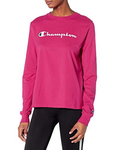 Champion Damen Classic T-Shirt, Deep Raspberry, Groß