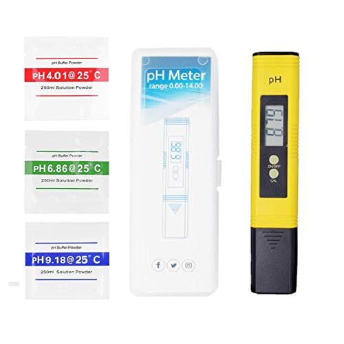 RMFC PH Messgerät Digital PH Wert Messgerät Wasserqualität Tester PH Meter mit LCD Display ATC Funktion für Trinkwasser, Hydroponic, Aquarium und Labor