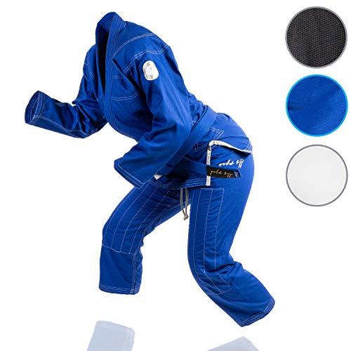 Gold BJJ Jiu Jitsu Gi - Ultra Light Women's Aeroweave - IBJJF Competition Approved Lightweight Uniform for Women (Blue, F1)