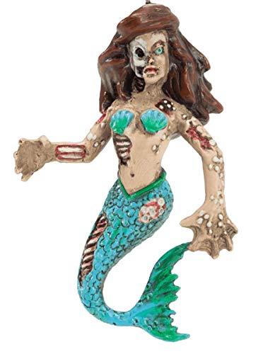 Horror Zombie Mermaid Christmas Halloween Tree Ornament