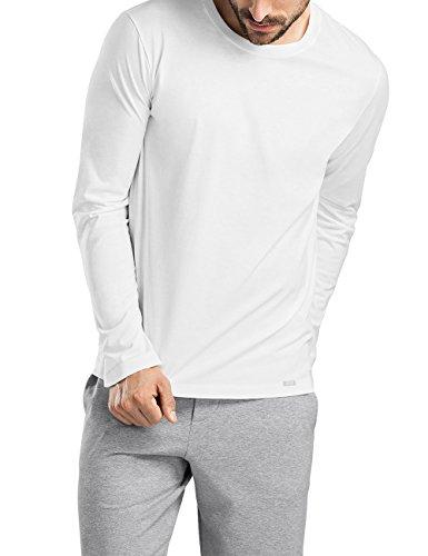 Hanro Herren Living Shirt 1/1 Arm Langarmshirt, Weiß (White 0101), 58 (Herstellergröße: XXL)