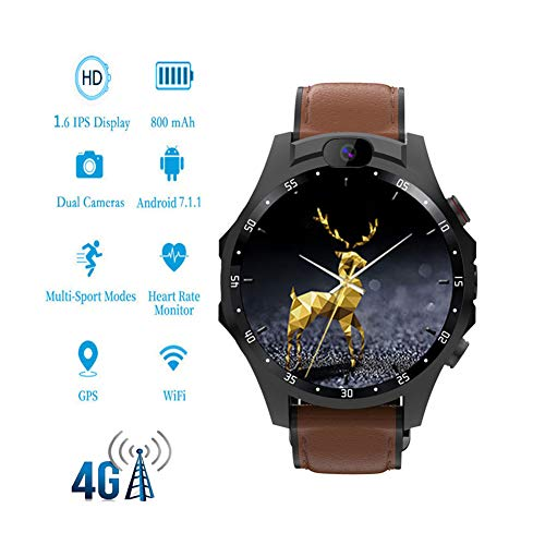 MROSW X360 Pro Smartwatch 1,6 inch (1,6 cm) met wifi, SIM, 4G, Android smartphone, smartwatch 5 MP + 5 MP dual camera 800 mAh voor Samsung Huawei OnePlus horloges