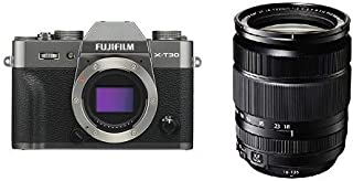 Fuji X Series X-T30 APC-S Sensor Mirrorless Digital Camera Kit with XF18-135mmF3.5-5.6 R LM OIS WR Lens - Charcoal Silver