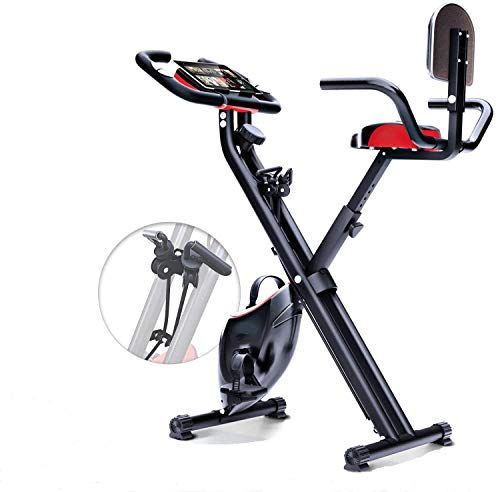 Mugar-Bicicleta estática Plegable X-Bike MG con Sistema de Resistencia Inteligente, Respaldo, Soporte...