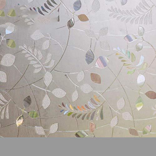 Tulpe durchscheinende Laser-Fensterfolie Elektrostatische Glasaufkleber Badezimmer Küche Schiebetür Glas 3D-Prägefensterpapier