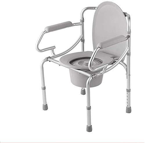 WEHOLY Klappstuhl, mobil, Aluminium, 3–1 Höhenverstellung, Hilfsmittel, mit Rückenlehne/Armlehnen, 45,5 kg rutschfest