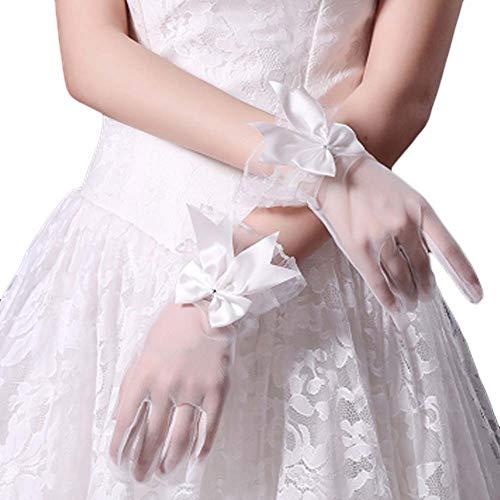 Gants de mariée mariage robes de soirée dentelle gants courts B18