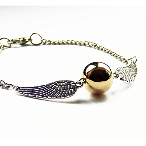 Pulsera Snitch de oro alas de plata – Harry Potter