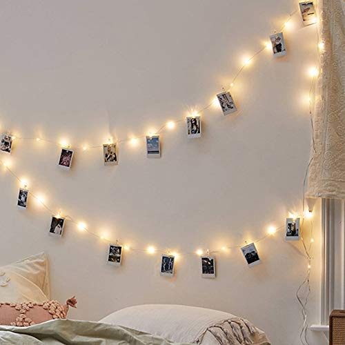 jieGorge led photo clip string lights USB decoration string lights, Home Decor for Easter Day (As Shown)