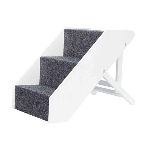 TRIXIE Escalera Pet, Altura Ajustable, 40 × 67 cm, Blanco, Perro