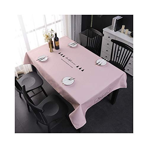 WDHXD Pink Tablecloths Wipe Clean Washable Table Cover Resistant Spill Table Covers for Kitchen Picnic Camping (140 * 140cm)