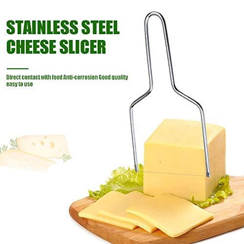 Un robusto in acciaio INOX filo tagli bella fette e crea tagli perfetta e costante. affettare la propria formaggio non è mai stato così facile. Il nostro tagliere per formaggio è realizzato in acciaio INOX. Esso è resistente e durevole, e non arruggi...