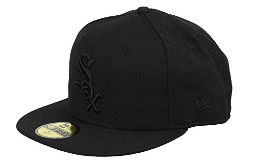 New Era Chicago White Sox 59fifty Basecap MLB Black on Black - 7-56cm
