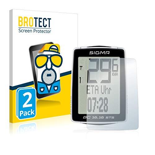 BROTECT 2X Entspiegelungs-Schutzfolie kompatibel mit Sigma BC 16.16 STS Displayschutz-Folie Matt, Anti-Reflex, Anti-Fingerprint