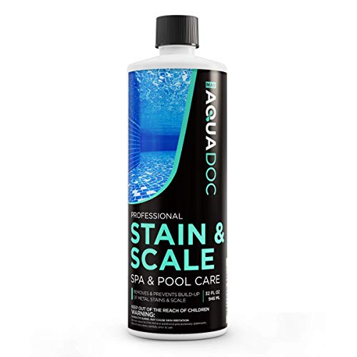 Mav AquaDoc Spa Stain and Scale Control for Hot Tubs, Scale Metal and Stain Control for Hot Tubs, Prevent & Remove Stains in Hot Tubs with Our Hot Tub Water Softener & Spa Descaler Chemical 32oz