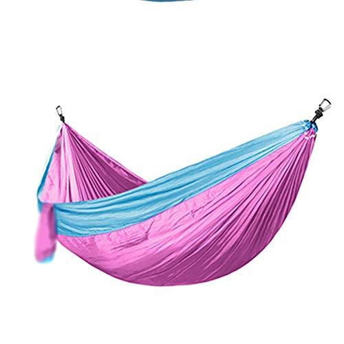 XiuHUa Hamac - Matériel léger pour l'aviation, parachute de camping, grand hamac en nylon, balançoire pour dormir, prévention des renversements, famille, dortoir pour étudiants, voyage, plage, cour Ha