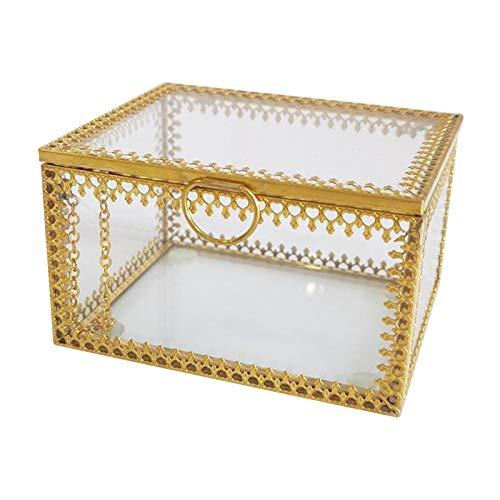 N/A/a Tapa de Cristal Transparente Caja de terrario/Pulsera Collar Pendientes Anillo Organizador de exhibición de joyería Caja Decorativa Caja decoración de