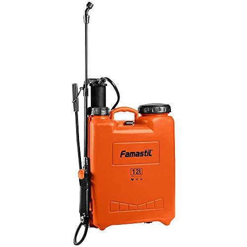 Pulverizador Costal Famastil – 12 litros – Compressão Prévia – Pulverizador Costal + Kit de Peças de Reposição + 4 Bicos Intercambiáveis – Agrícola