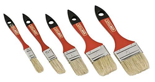kwb 031090 Flach-Pinsel-Set, 5-teiliges Maler-Set, f. Lasur, 15, 20, 30, 40, 50 mm Breit, Lasur-Pinsel