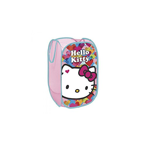 North Star HK9489 Sac à Jouets Pop up, Motif Hello Kitty, en Polyester, Multicolore
