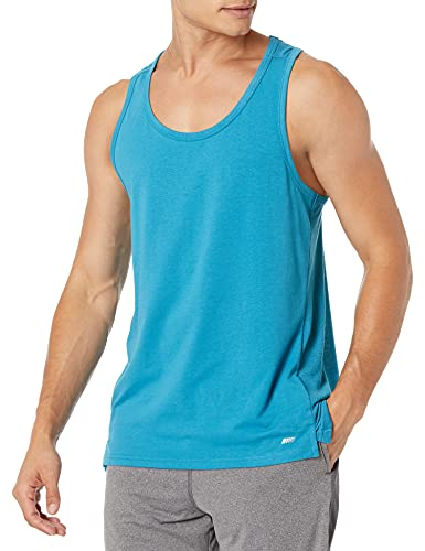 Amazon Essentials Men s Performance Cotton Tank Top Shirt, Federal Blue, Medium