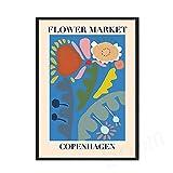 YALUO Kopenhagen Lima Flowers Market Print Poster Nordic
