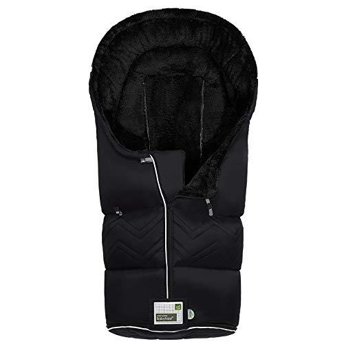 Odenwälder BabyNest Fußsack Lo-Go classic | 12382-190 | passend für alle Kinderwagen und Buggy | schwarz