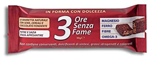 Rilevo- 3 ore Senza Fame -9 Confezioni Singole di Barrette Spezzafame con Semi,Cereali ricoperte cioccolato fondente (9x30 gr)