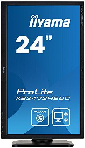 iiyama ProLite XB2472HSUC-B1 59,8cm (23,6 Zoll) VA LED-Monitor Full-HD (VGA, DVI, DisplayPort, USB2.0, Höhenverstellung, Pivot, Webcam) schwarz