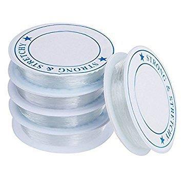 Jooks Spule elastisch Schmuckfaden Gummifaden Faden Beading Thread Handwerk Schmuck Armband Herstellung Schnur 1mm