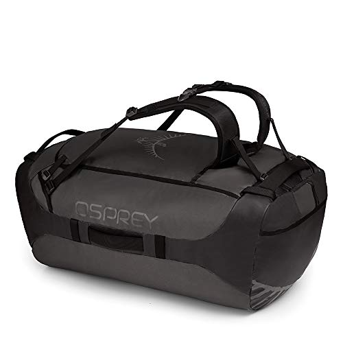 Osprey Transporter 130 Unisex Durable Duffel Travel Pack with Harness - Black (O/S)