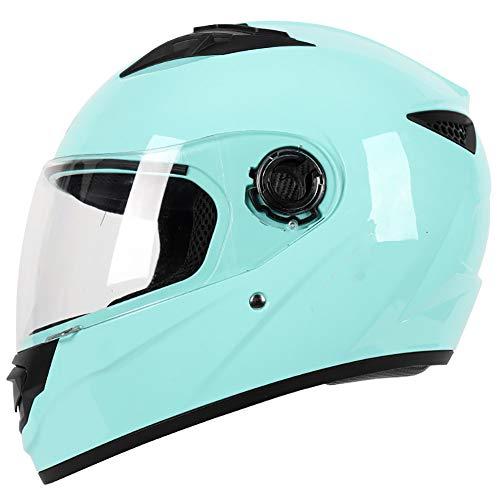 DYOYO Casco Integral para Moto, Cascos Integrale ECE Aprobado, Full Face Helmet con Visera Se Abre Fácil, Helmets Intégral Idéal para Hombres Adultos Mujeres 59-62CM