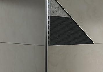 L-Profil 9mm, geb/ürstet Quadrat-// Rund-// /& L-Profile gl/änzend oder geb/ürstet HEXIM Fliesenschienen//Edelstahlschienen 250cm H/öhe: 9-12mm Edelstahl