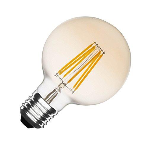 LEDKIA LIGHTING Bombilla LED E27 Casquillo Gordo Regulable Filamento Gold Globo G80...