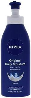 NIVEA Original Daily Moisture Body Lotion - 48 Hour Moisture For Normal To Dry Skin - 16.9 oz. Pump Bottle