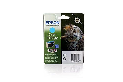 Original Epson C13T07924010 / T0792 Tinte Cyan für Epson Stylus Photo 1500 W