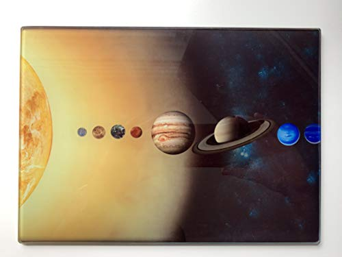 Tabla de cortar con diseño de sistema solar, 20x 28cm, gran regalo para los aficionados a la ciencia