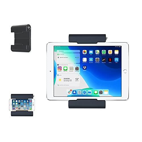 TFY Soporte de pared universal autoadhesivo para tabletas, lectores electrónicos y teléfonos inteligentes, dispositivos de 5-10.5 pulgadas, compatible con iPad Pro, aire, mini, Huawei, Galaxy - negro