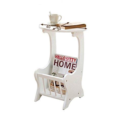 MEILING Telefontisch-Kaffeetisch, hölzerne Versammlung, 28 * 30 * 59.5 Cm, weiße Farbe