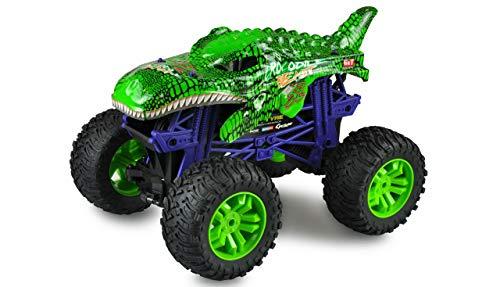 Amewi 22479 Green Crocodile Beast Big Monster Truck - Coche teledirigido (Escala 1:10), Color Verde