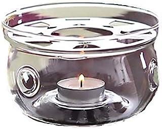 Glass Teapot Tealight Candle TEA WARMER – Flat Bottom Burner